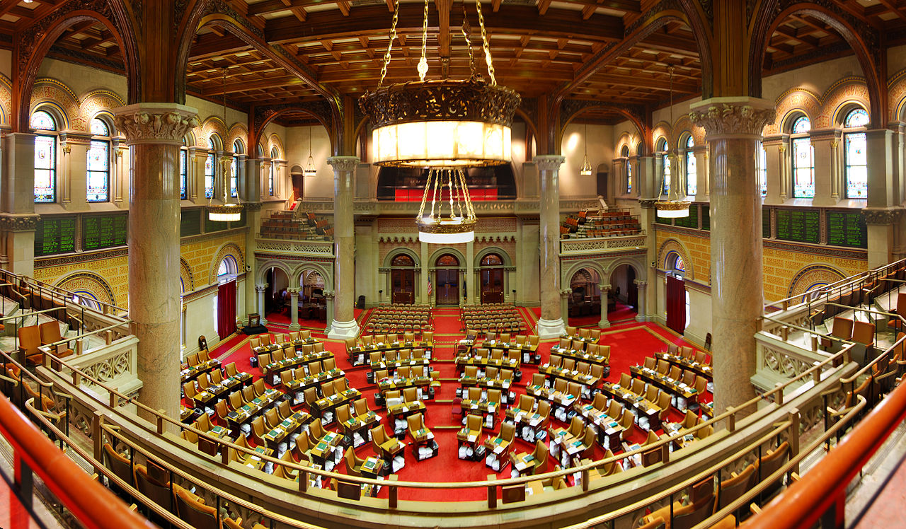 Chamber of the New York State Assembly shot by Matt H. Wade