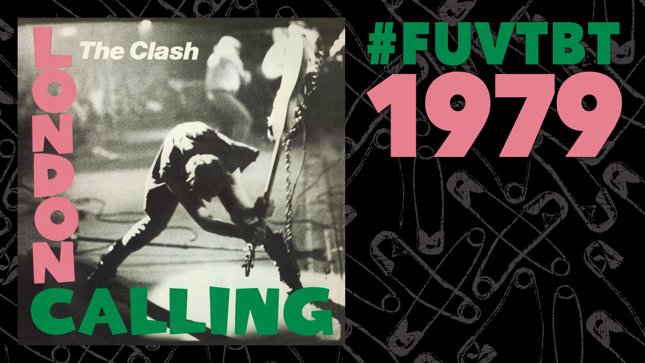 The Clash's London Calling (safety pins wallpaper courtesy of Pixelscrapper)