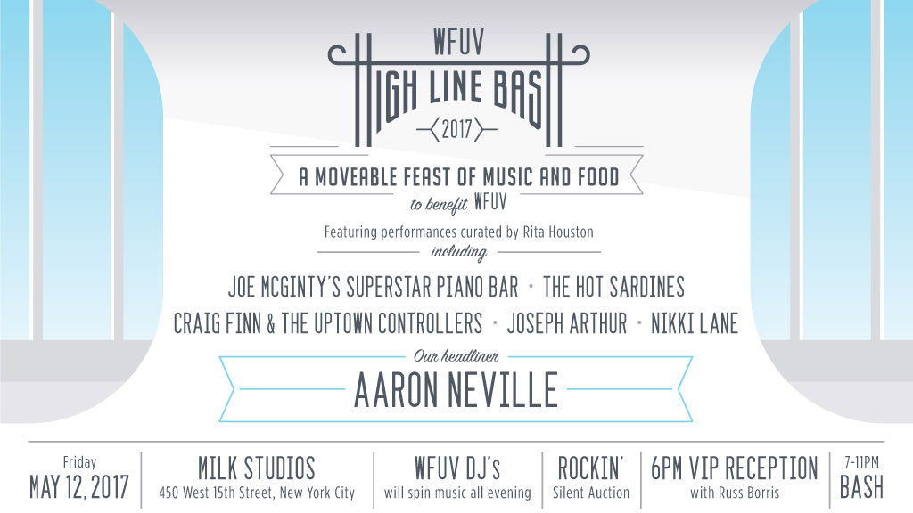 The WFUV High Line Bash, May 12, 2017 with Aaron Neville