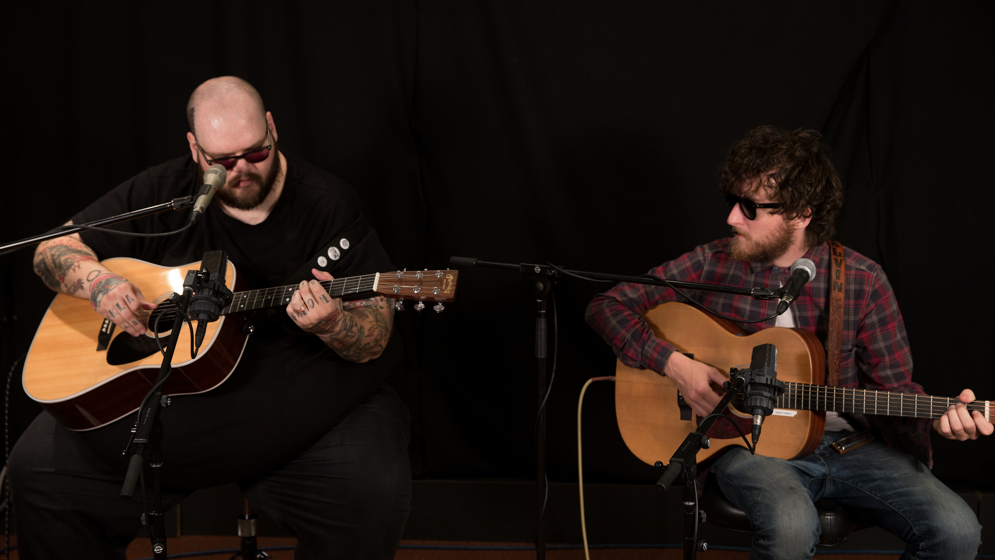 John Moreland with John Calvin Abney at WFUV