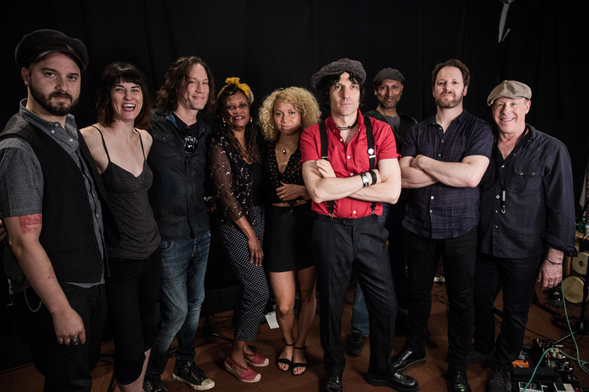 Jesse Malin and his band at WFUV