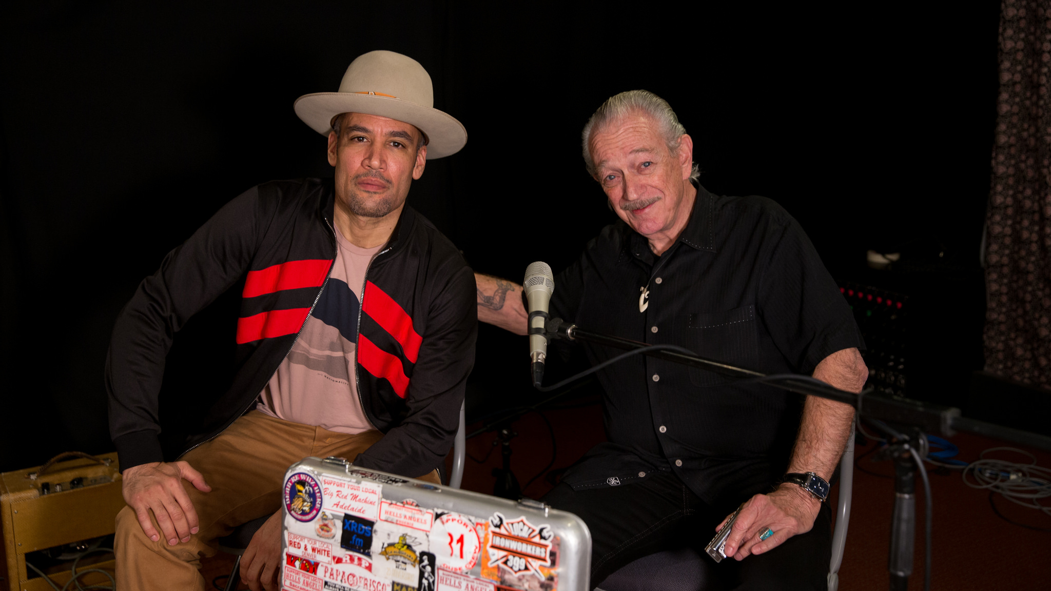 Ben Harper and Charlie Musselwhite at WFUV