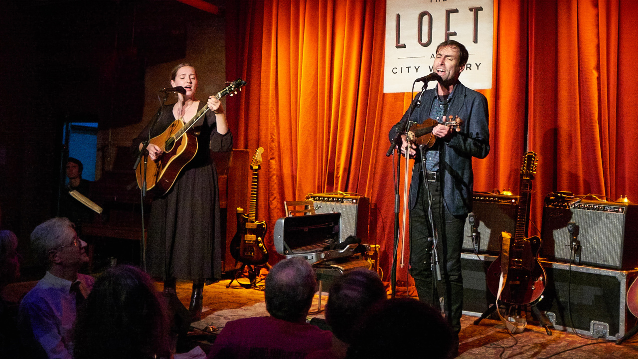 Madison Cunningham and Andrew Bird at The Loft at City Winery (photo by Gus Philippas/WFUV)