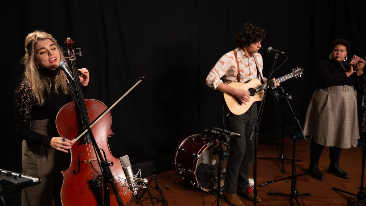 Bandits on the Run in Studio A (photo by Kay Kurkierewicz/WFUV)