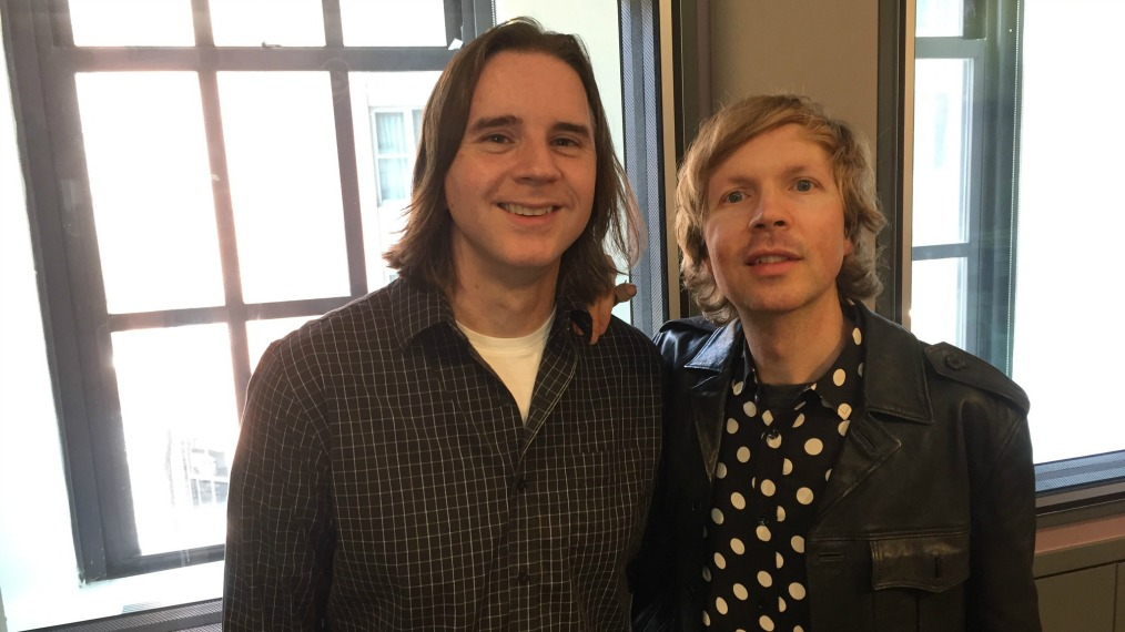 Beck with WFUV's Russ Borris