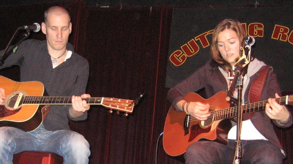 Tim Hanseroth and Brandi Carlile at The Cutting Room (photo courtesy of WFUV)