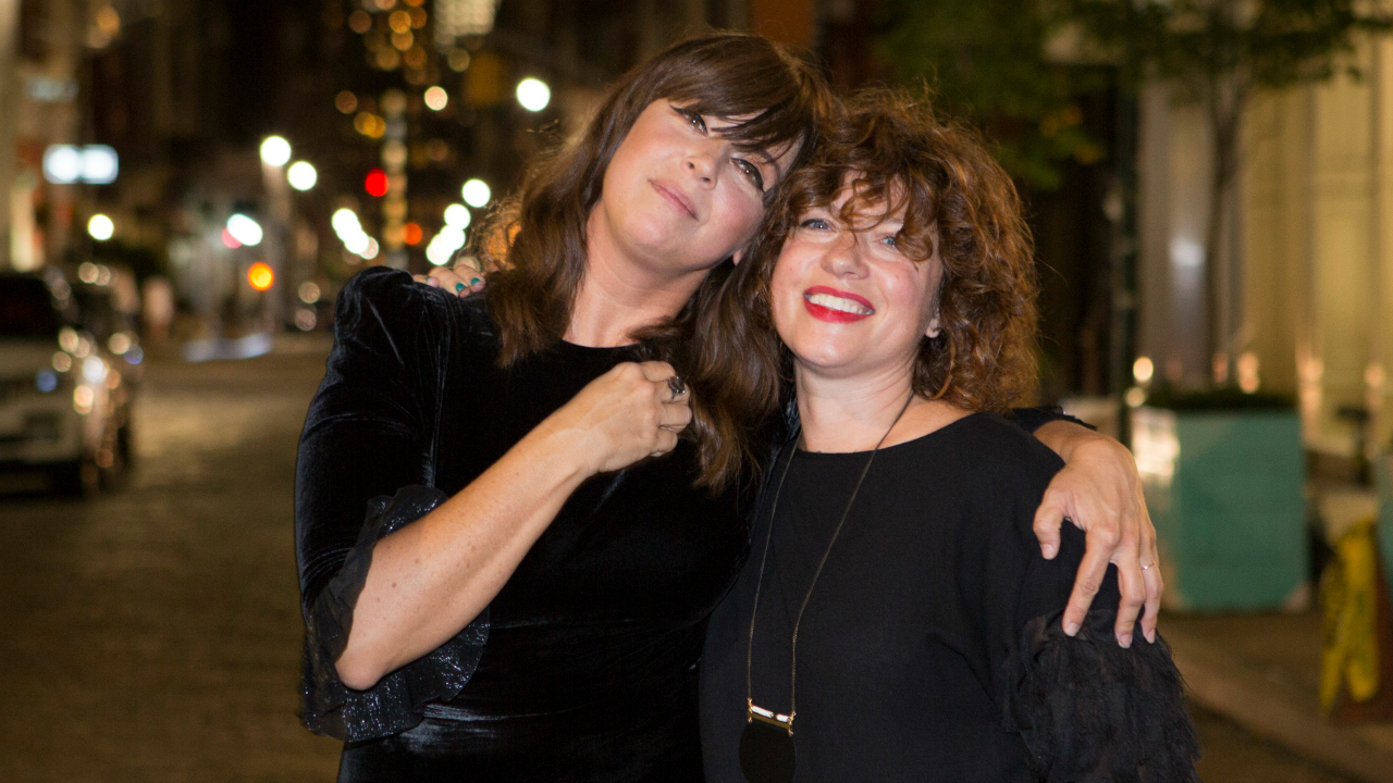 Cat Power with Carmel Holt (photo by Gus Philippas/WFUV)