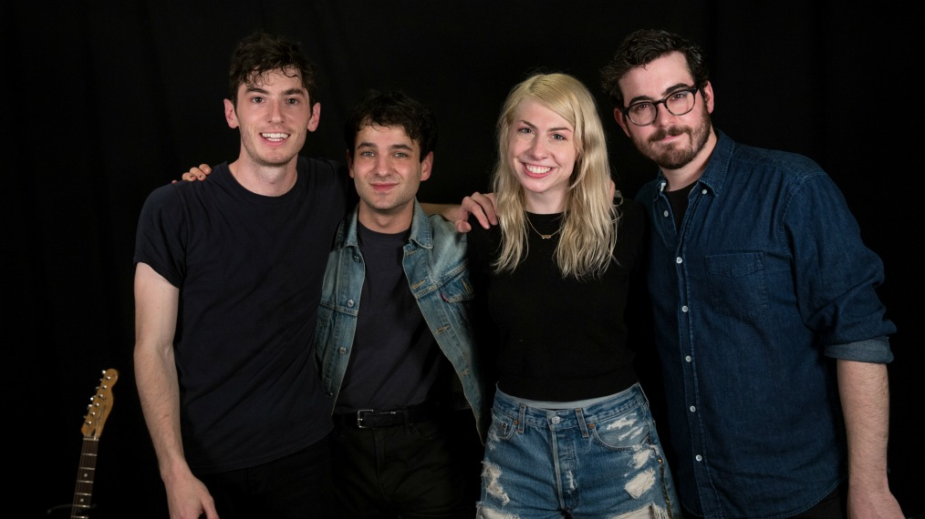 Charly Bliss in Studio A (photo by Veronica Moyer/WFUV)