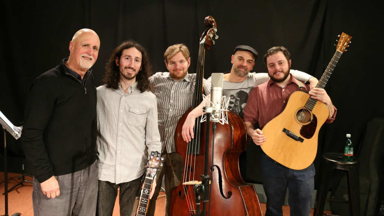 "Cole Quest and The City Pickers and ""Sunday Supper"" host John Platt (photo by Jeremy Rainer)"