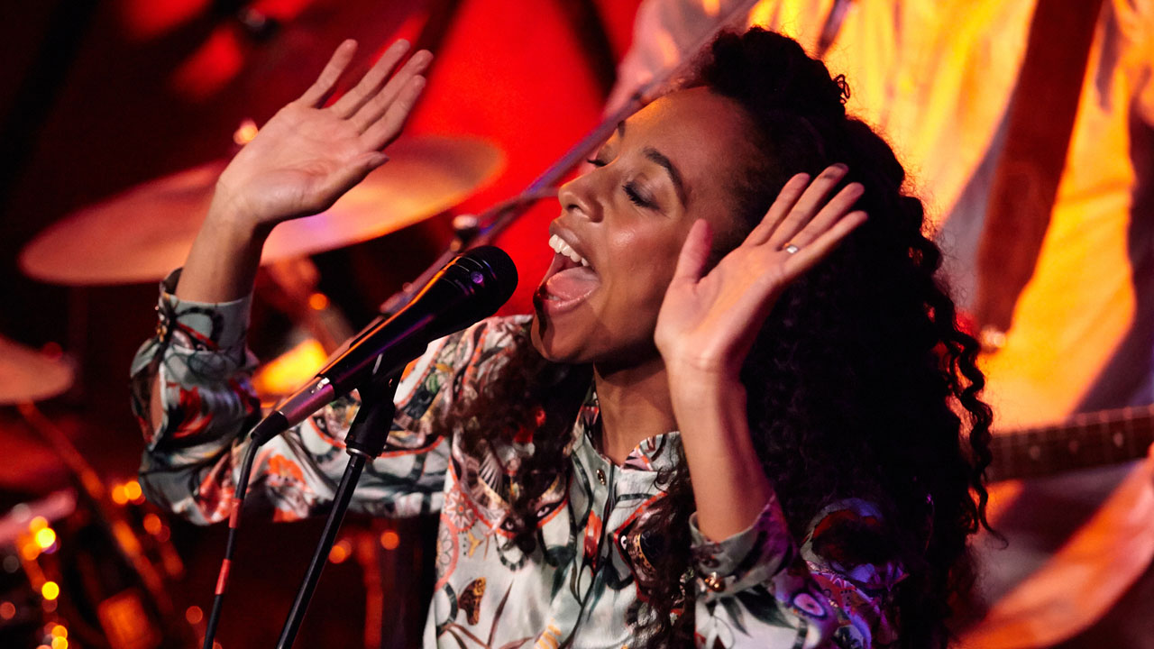 Corinne Bailey Rae at Rockwood Music Hall (photo by Gus Philippas/WFUV)