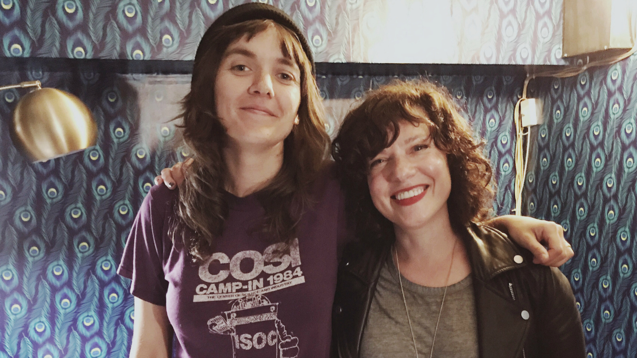 Courtney Barnett with Carmel Holt (photo by Sarah Wardrop/WFUV)