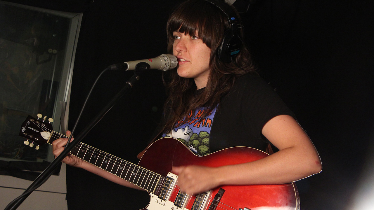 Courtney Barnett in Studio A (photo by Deirdre Hynes/WFUV)