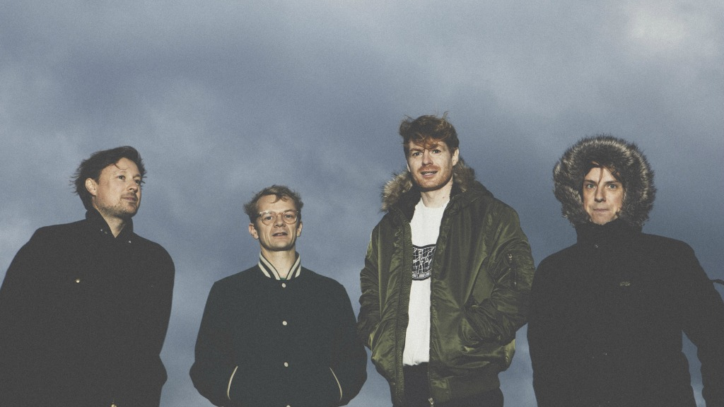 Left to right, Django Django's Vincent Neff, Tommy Grace, Dave Maclean and Jimmy Dixon (photo by Fiona Garden, PR)