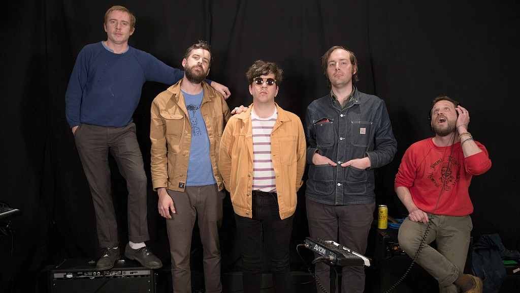 Dr. Dog at WFUV (photo by Joanna LaPorte)