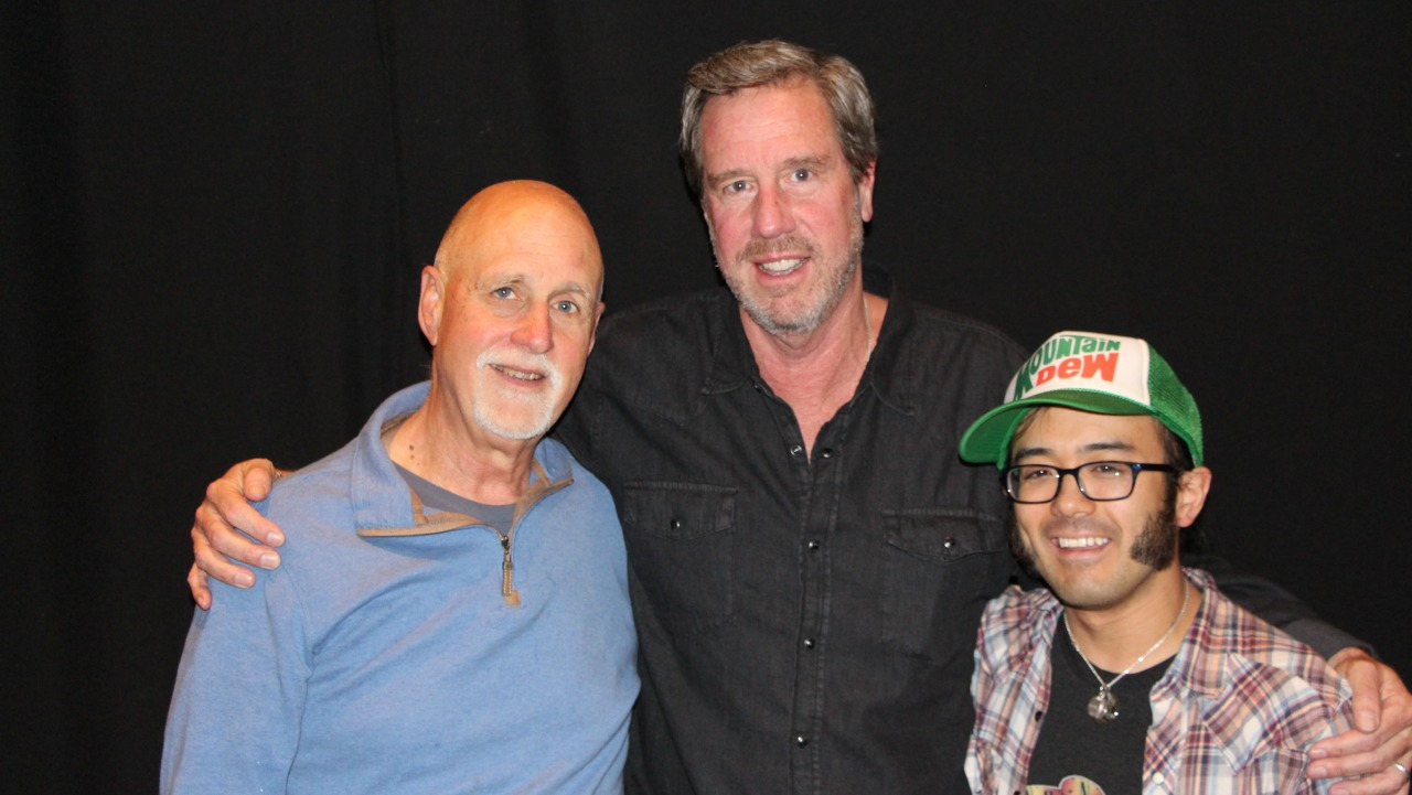 """Ed Romanoff, center, with Oscar Albis-Rodriguez, right, and """"Sunday Supper"""" host John Platt. (Photo by Jeremy Rainer/WFUV)"""