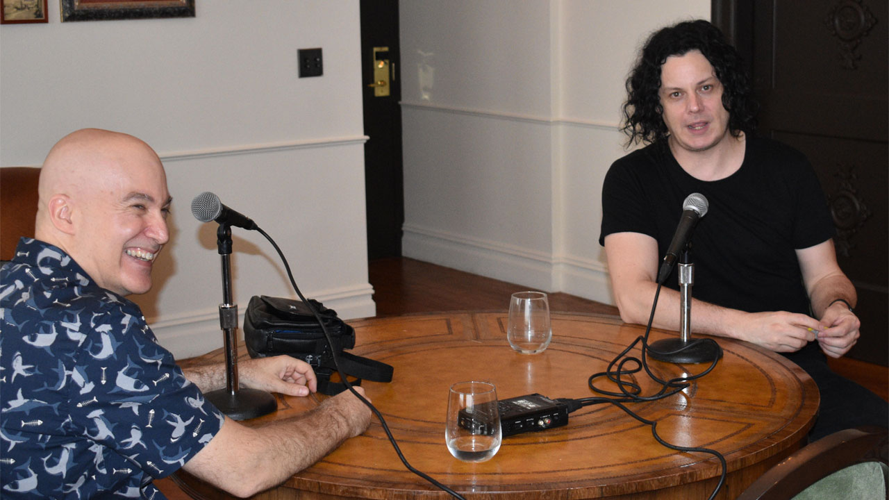 Eric Holland with Jack White (photo by Matt Pollack)
