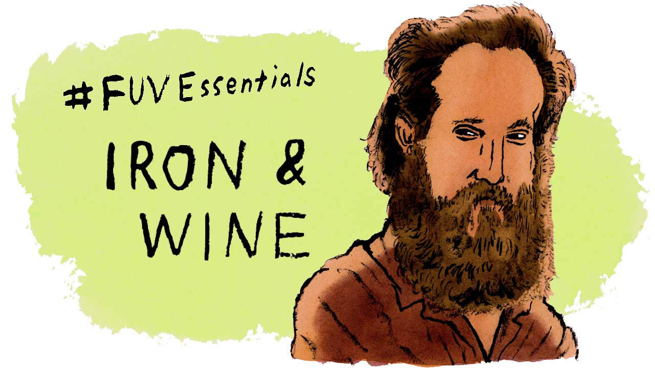Sam Beam of Iron & Wine (illustration by Andy Friedman)