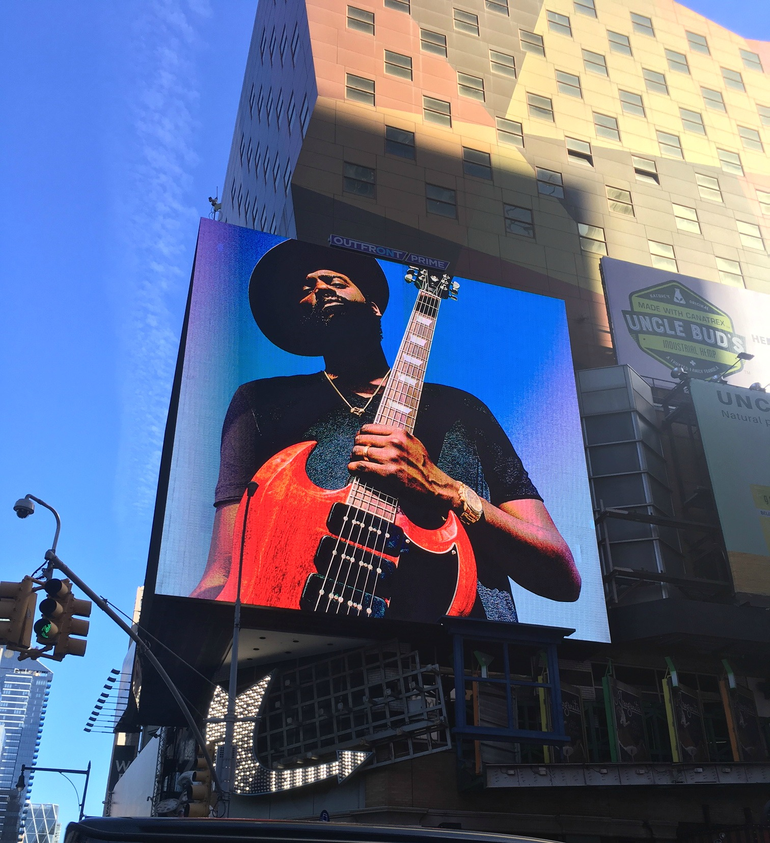Gary Clark Jr. Billboard in Times Square