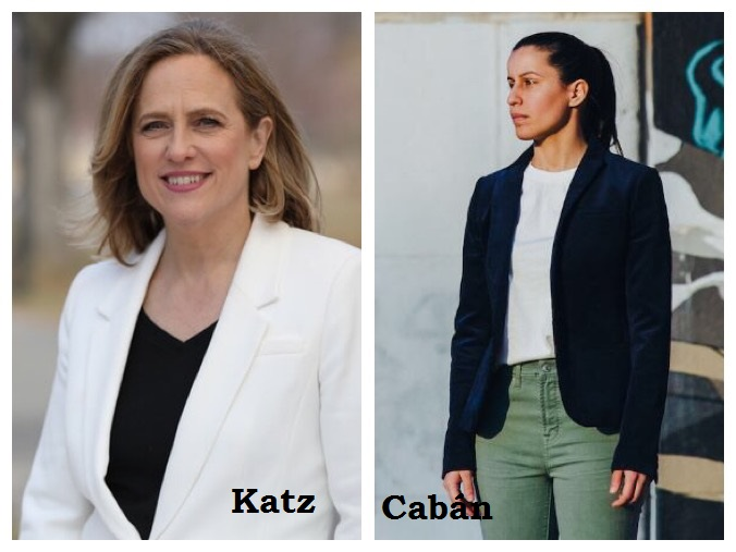 The two candidates are Melinda Katz and Tiffany Cabán