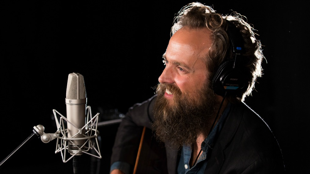Iron & Wine in Studio A (photo by Veronica Moyer/WFUV)