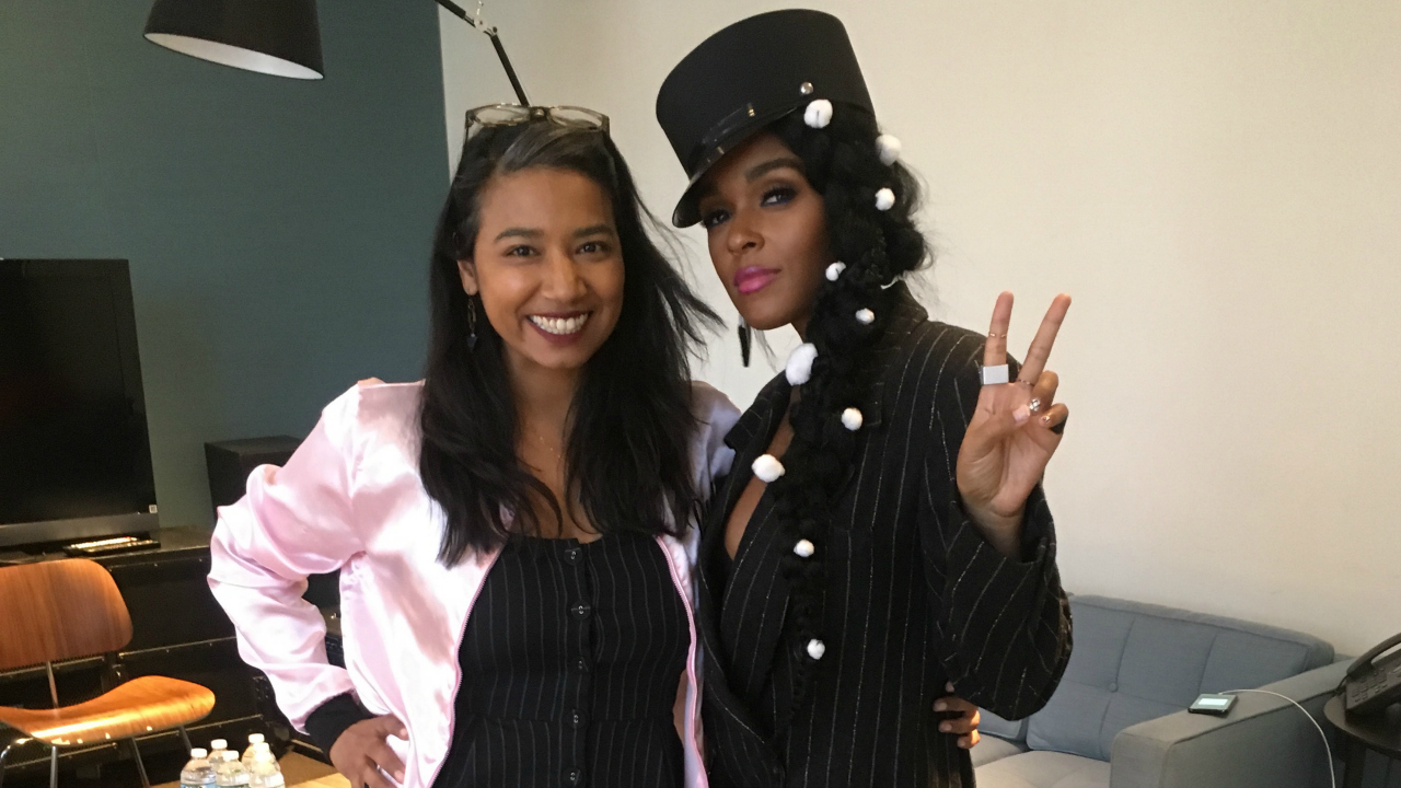 Alisa Ali with Janelle Monáe (photo by Jonathan Woodward)
