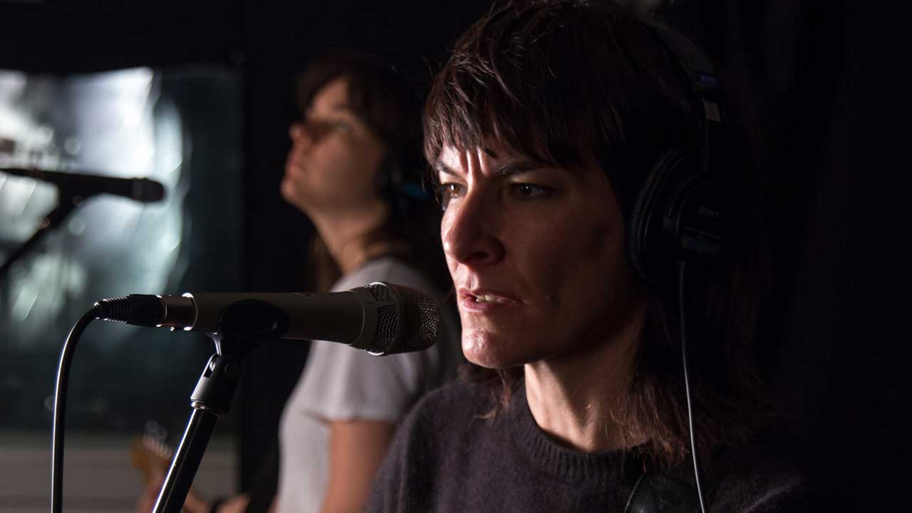 Jen Cloher in Studio A (photo by Jake Lee/WFUV)