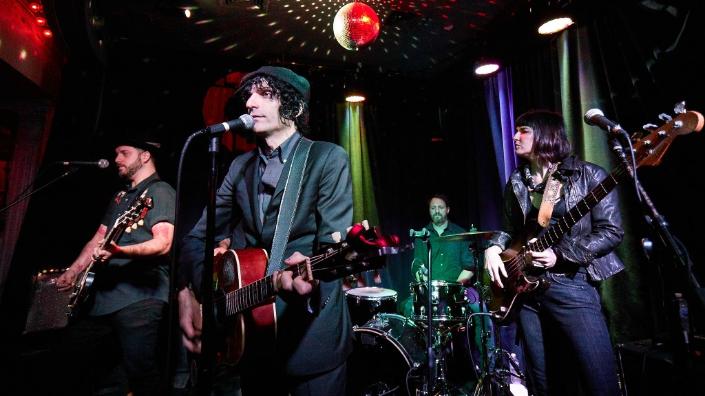 Jesse Malin and band at Berlin (photo by Gus Philippas for WFUV)
