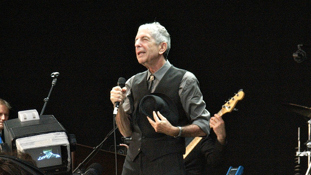 Leonard Cohen (photo by Baggio, own work, courtesy of Creative Commons)