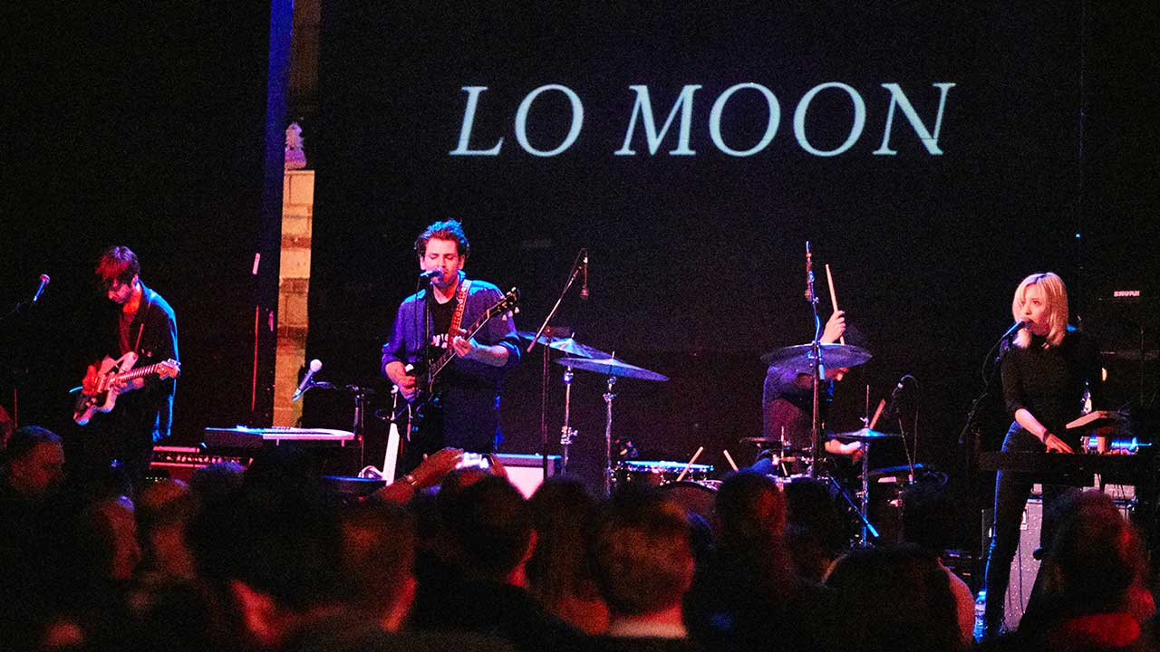 Lo Moon at Rough Trade NYC (photo by Gus Philippas/WFUV)