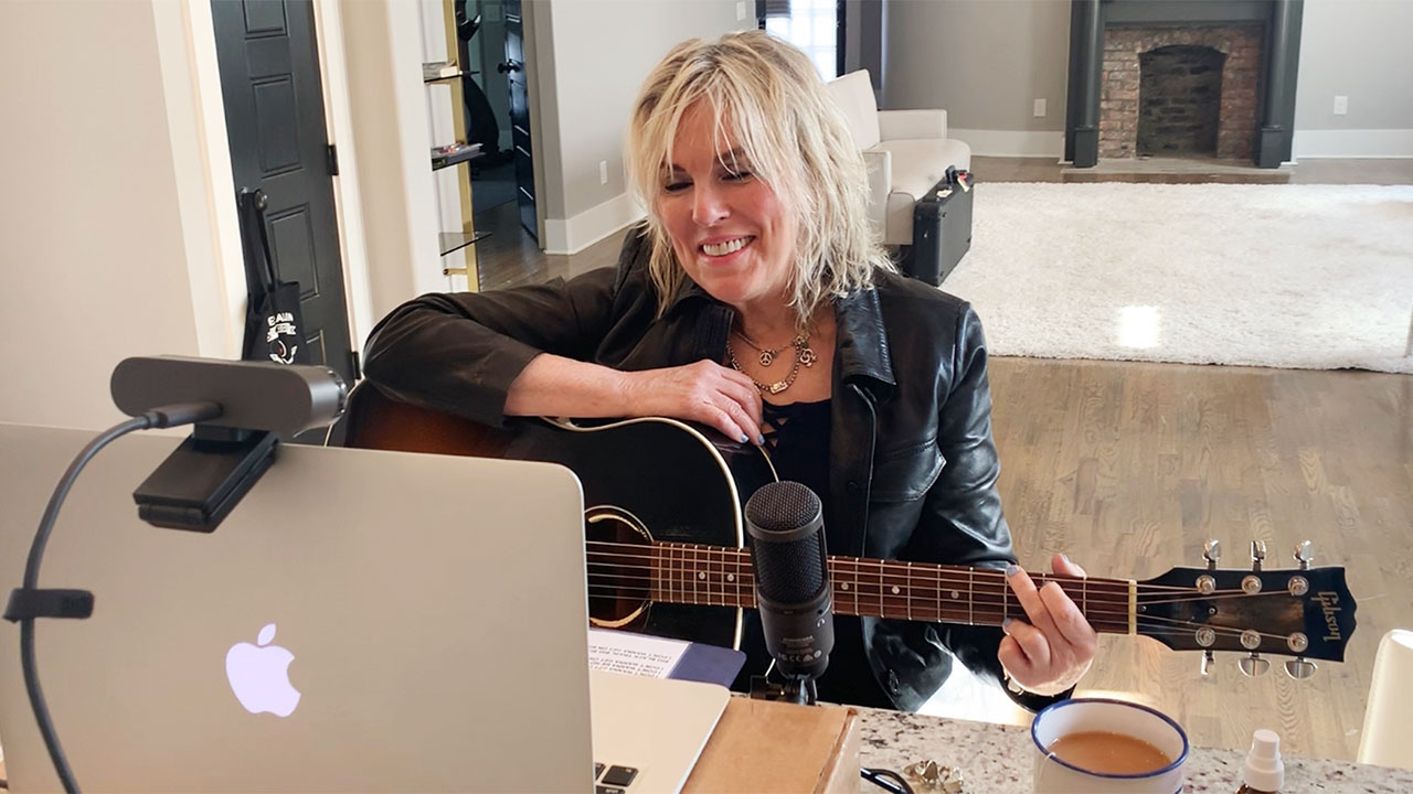 """Marquee at Home"" with Lucinda Williams (photo by Tom Overby)"