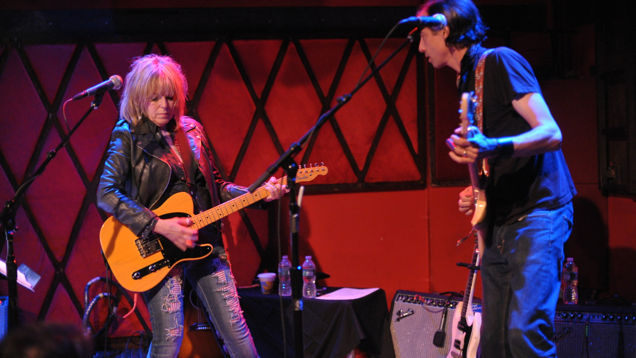 Lucinda Williams and Stuart Mathis at Rockwood Music Hall (photo by Neil Swanson/WFUV)