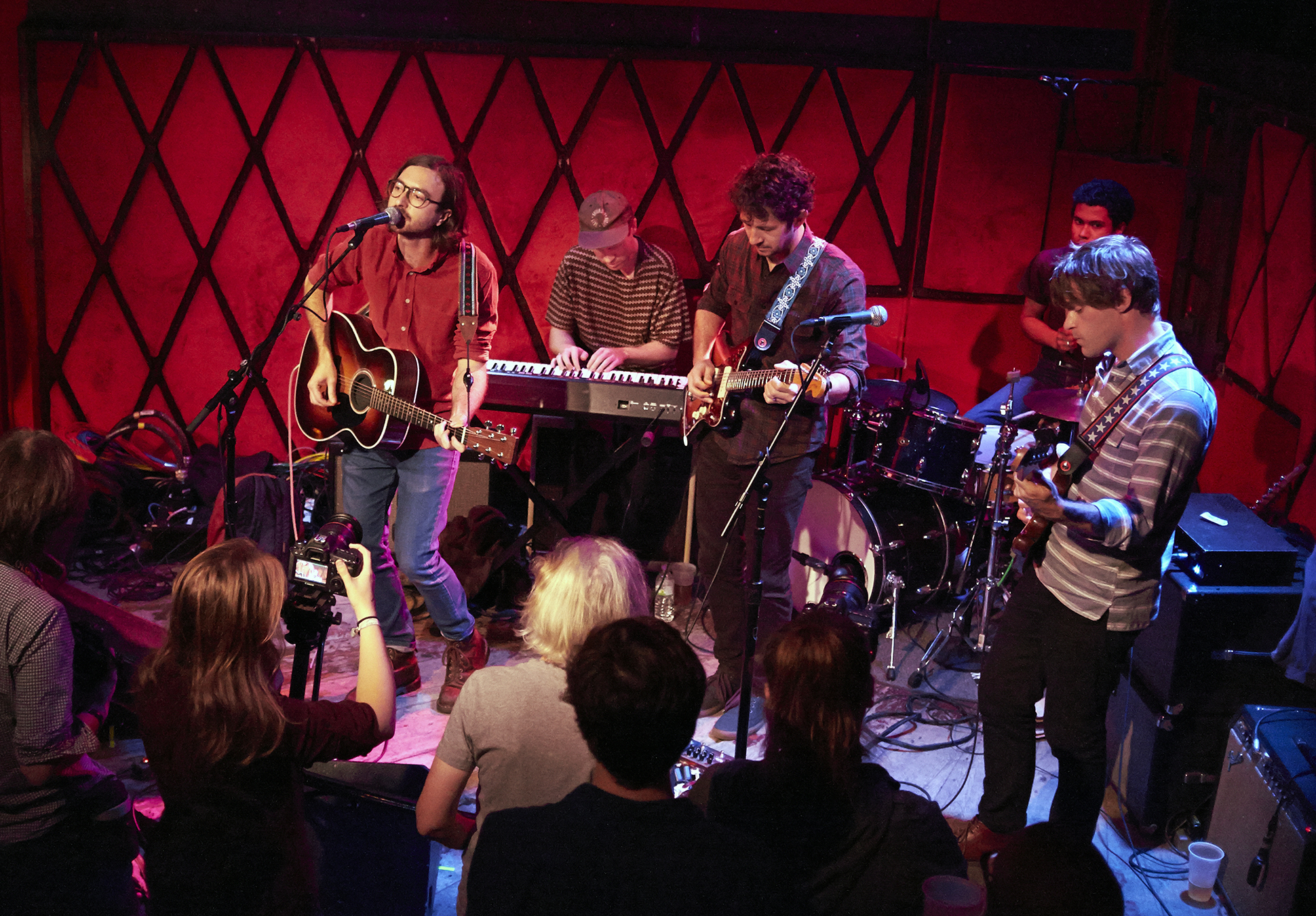 Martin Courtney at Rockwood Music Hall (photo by Gus Philippas/WFUV)