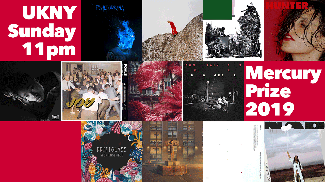 The albums nominated for the 2019 Mercury Prize (collage by Laura Fedele for WFUV)