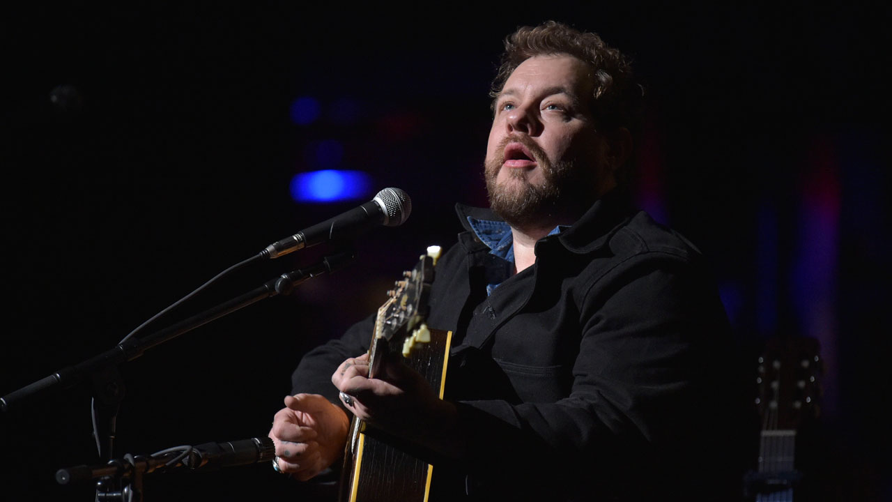 Nathaniel Rateliff at Holiday Cheer for FUV 2019 (photo by Neil Swanson, WFUV)