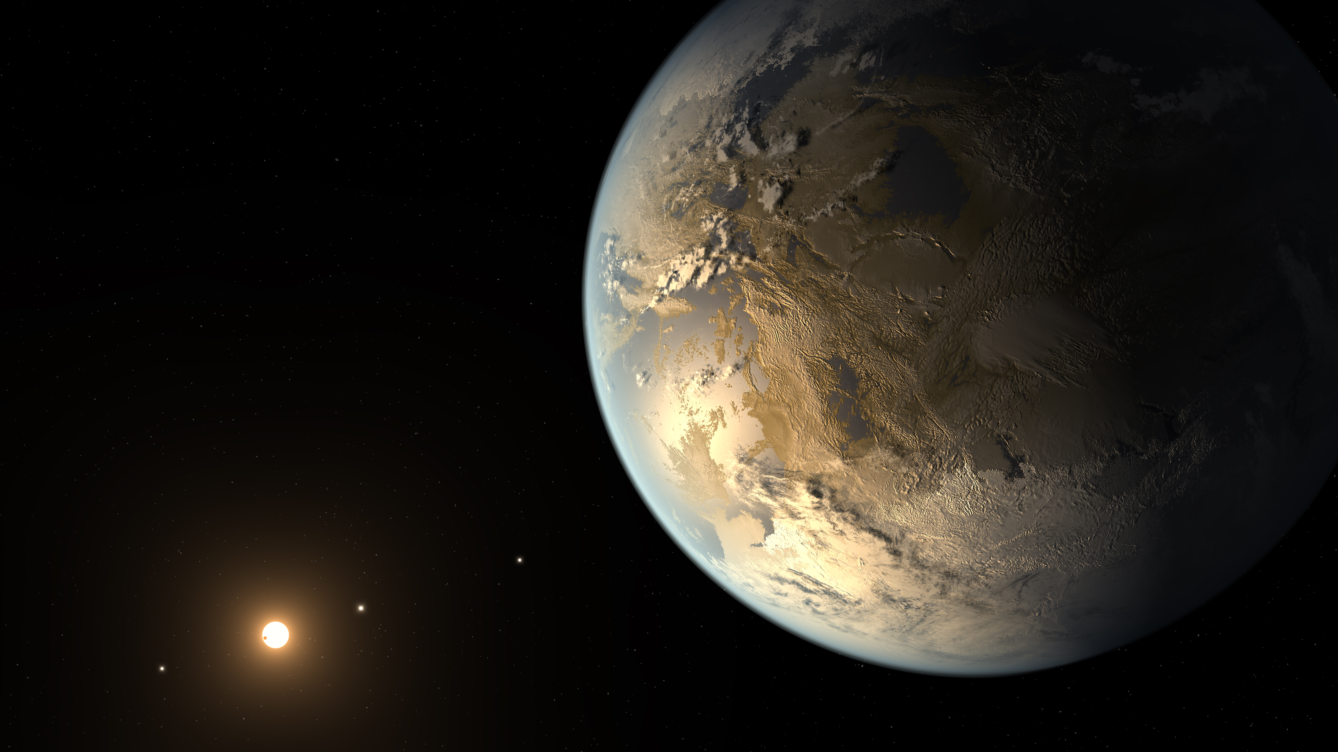 Artist's rendering of a new planet