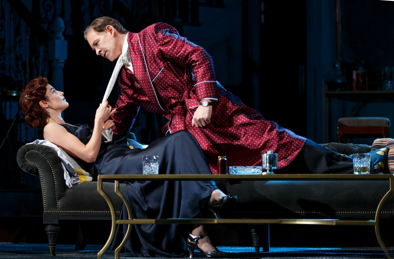 Present laughter on broadway wfuv cobie smulders and kevin kline photo by joan marcus from pr hexwebz Choice Image