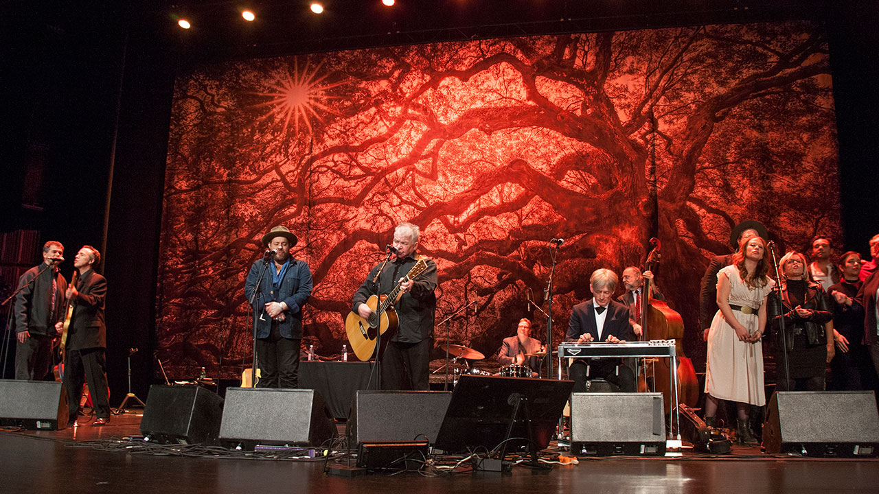 Holiday Cheer for FUV encore featuring John Prine, special guest Nathaniel Rateliff, the Lone Bellow, and Shannon Shaw (photo by Laura Fedele for WFUV)