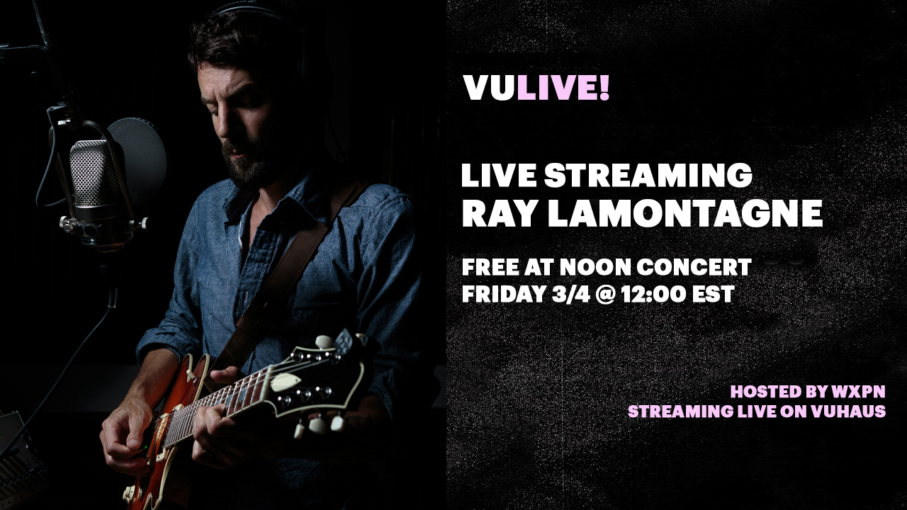 Watch Ray LaMontagne live on VuHaus