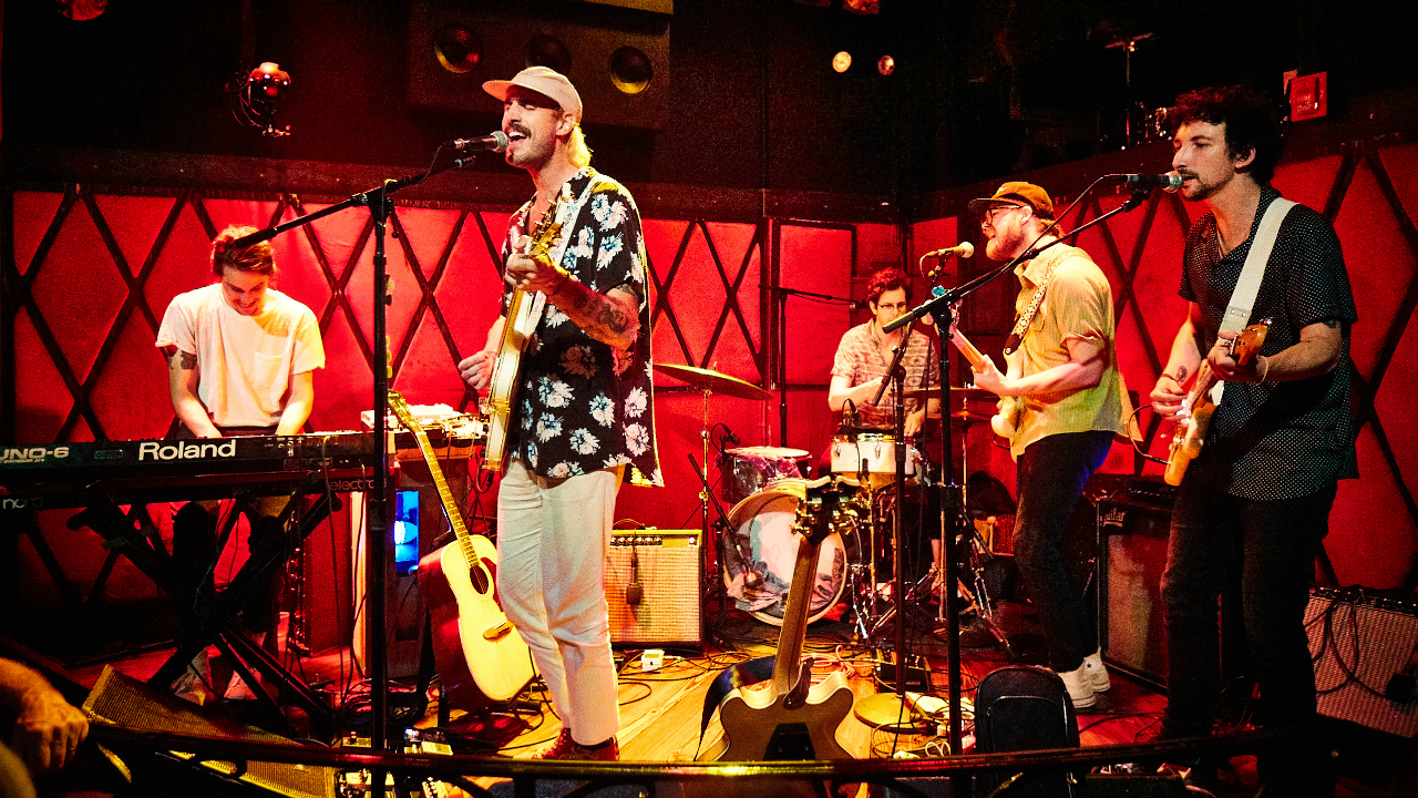 Rayland Baxter and band (photo by Gus Philippas/WFUV)