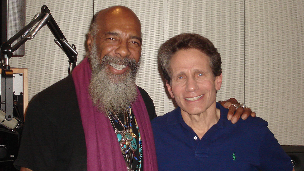 Richie Havens with Dennis Elsas at WFUV