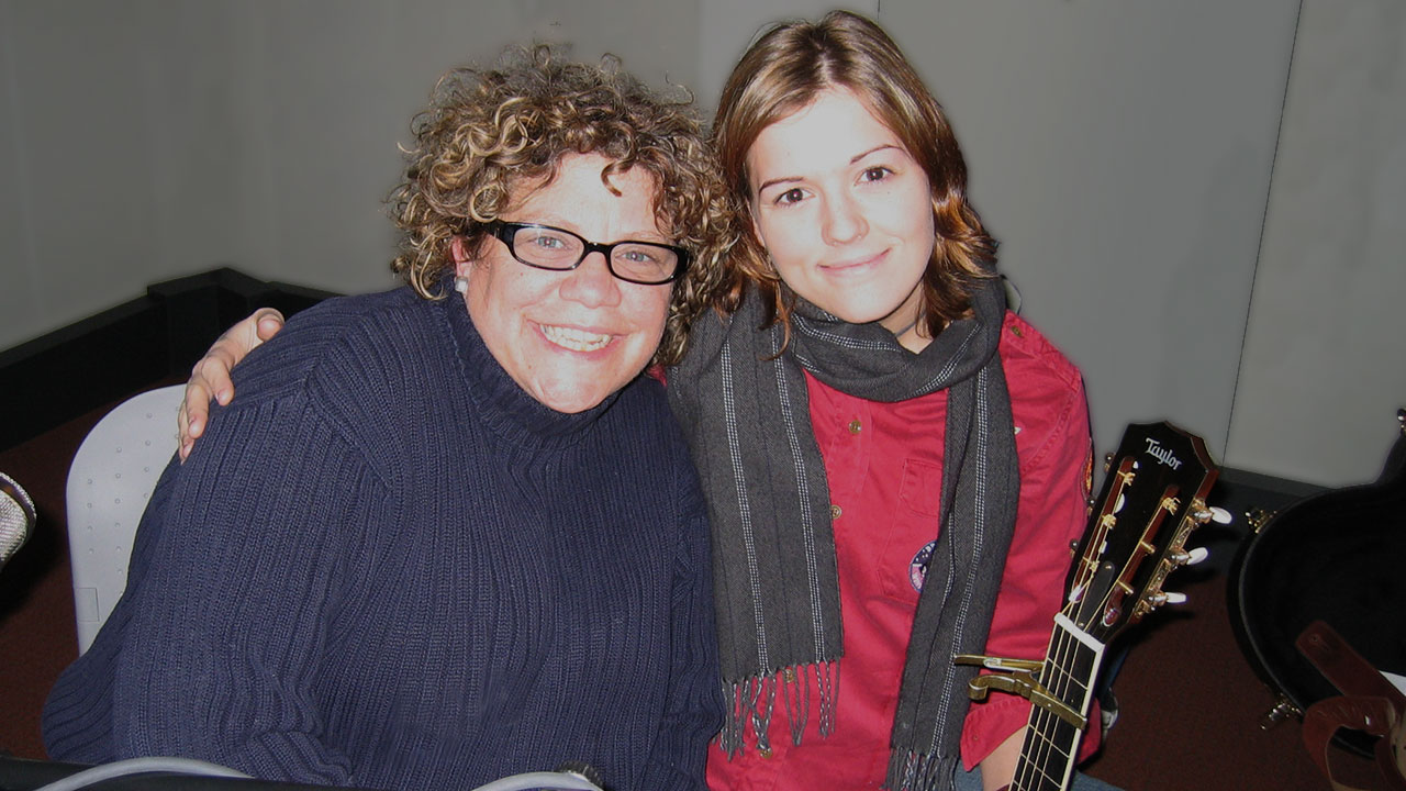 Rita Houston and Brandi Carlile in 2005 (photo via WFUV archives)