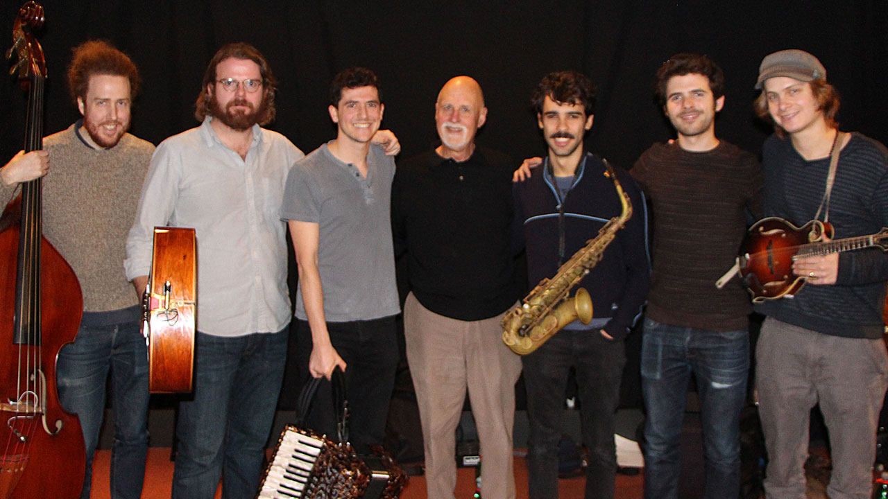 Dave Speranza, Roy Williams, Sam Reider, host John Platt, Eddie Barbash, Alex Hargreaves, Dominick Leslie (Photo by Jeremy Rainer)
