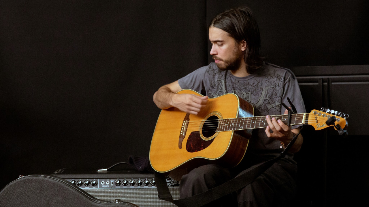 (Sandy) Alex G in Studio A (photo by Jake Lee/WFUV)
