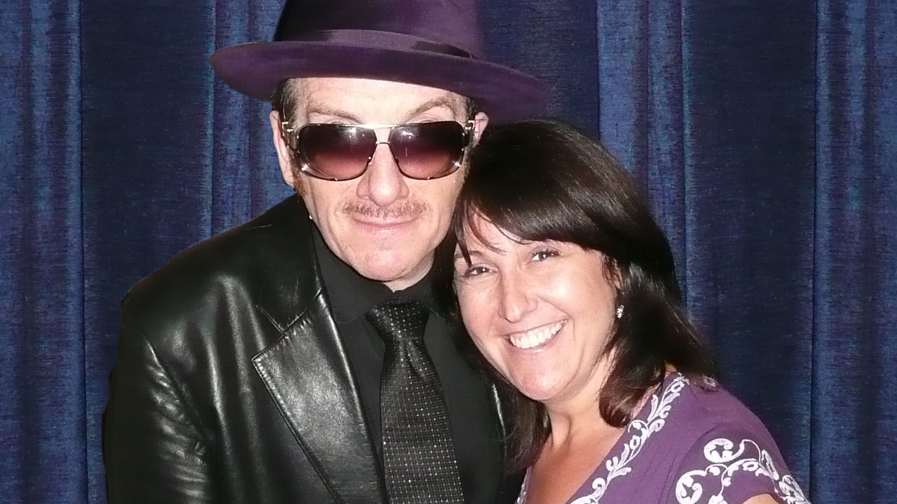 Shari Rosen Ascher with Elvis Costello