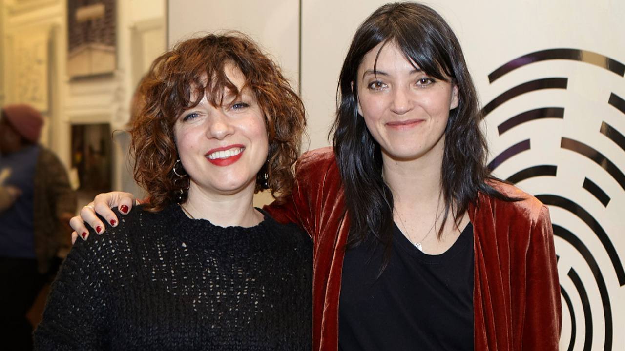 Carmel Holt and Sharon Van Etten at Sonos (photo by Gus Philippas/WFUV)