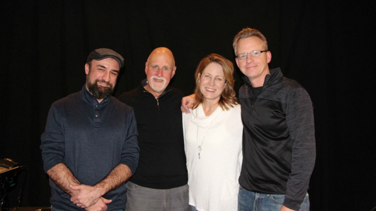 From left: Shawn Taylor, host John Platt, Meghan Cary, Peter Farrell (Photo by Jeremy Rainer)