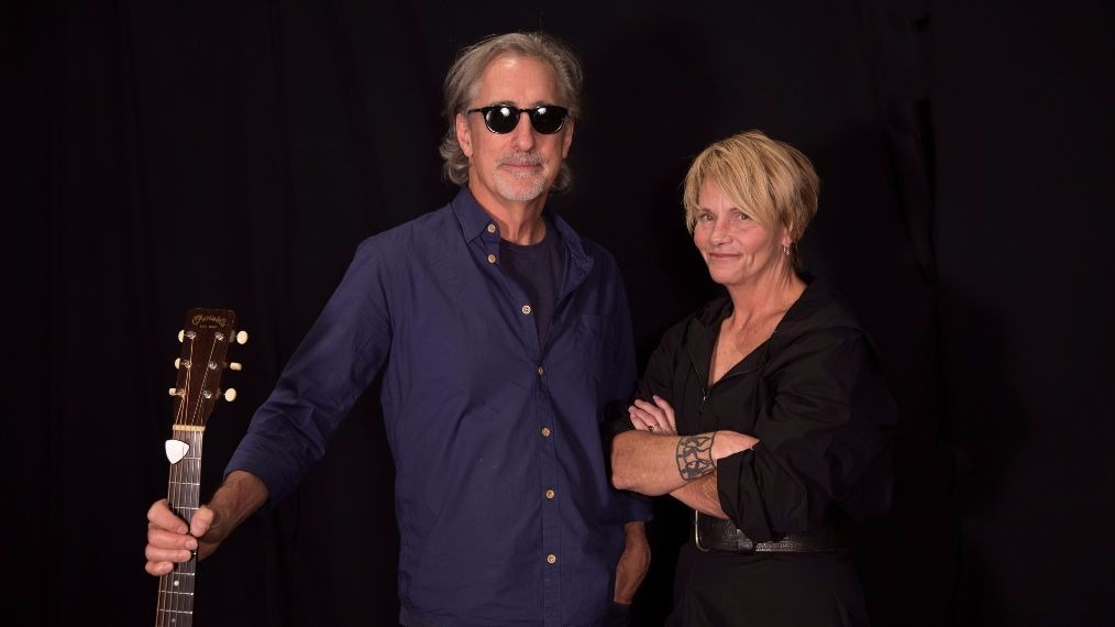 John Leventhal and Shawn Colvin in Studio A (photo by Kristen Riffert/WFUV)