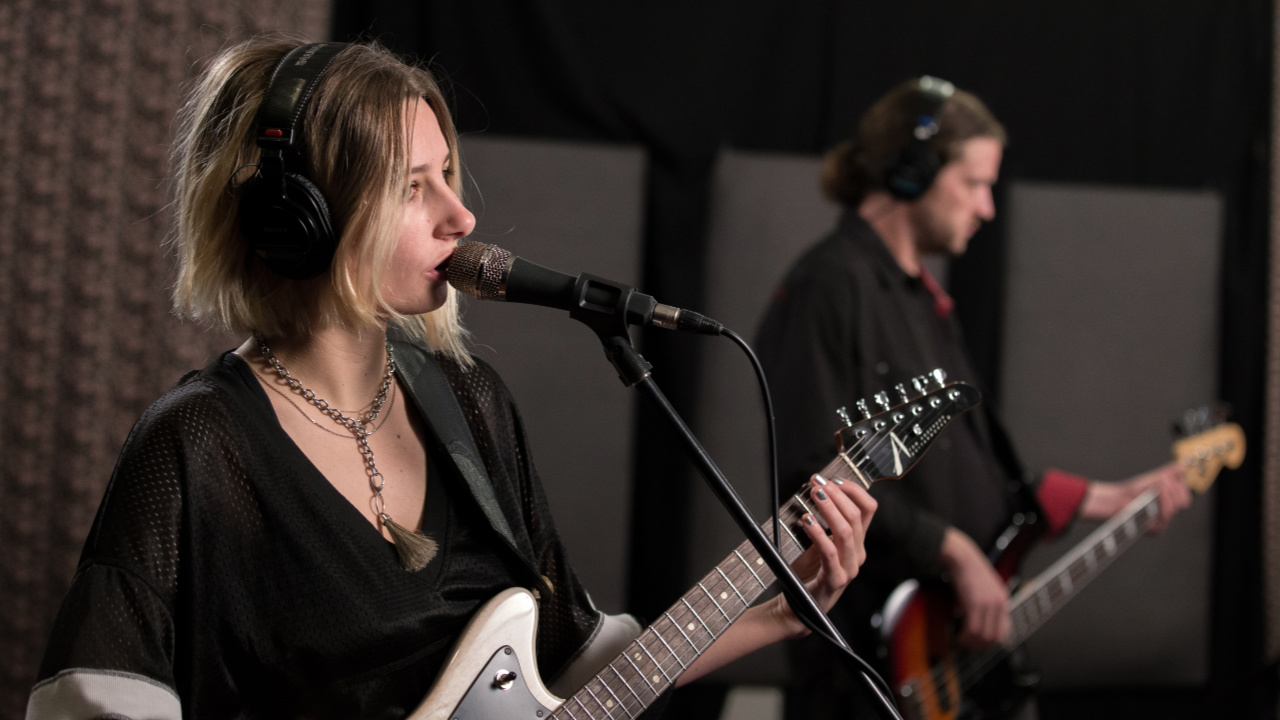 Slothrust in Studio A (photo by Dan Tuozzoli/WFUV)