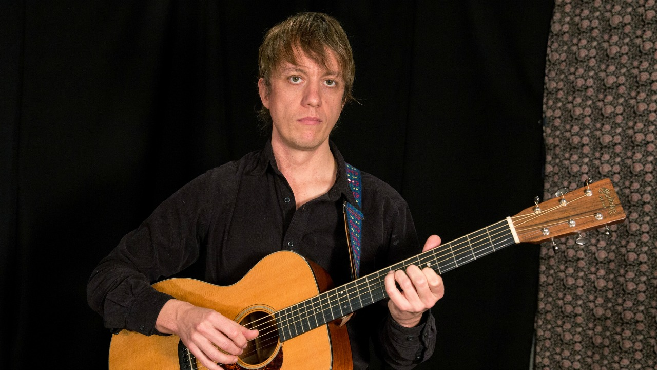 Steve Gunn in Studio A (photo by Dan Tuozzoli/WFUV)