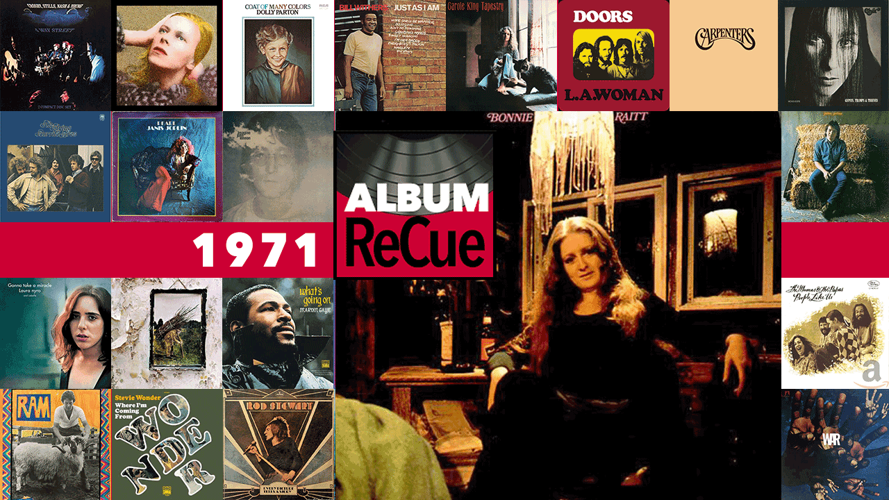 1971: Bonnie Raitt (collage by Laura Fedele for WFUV)